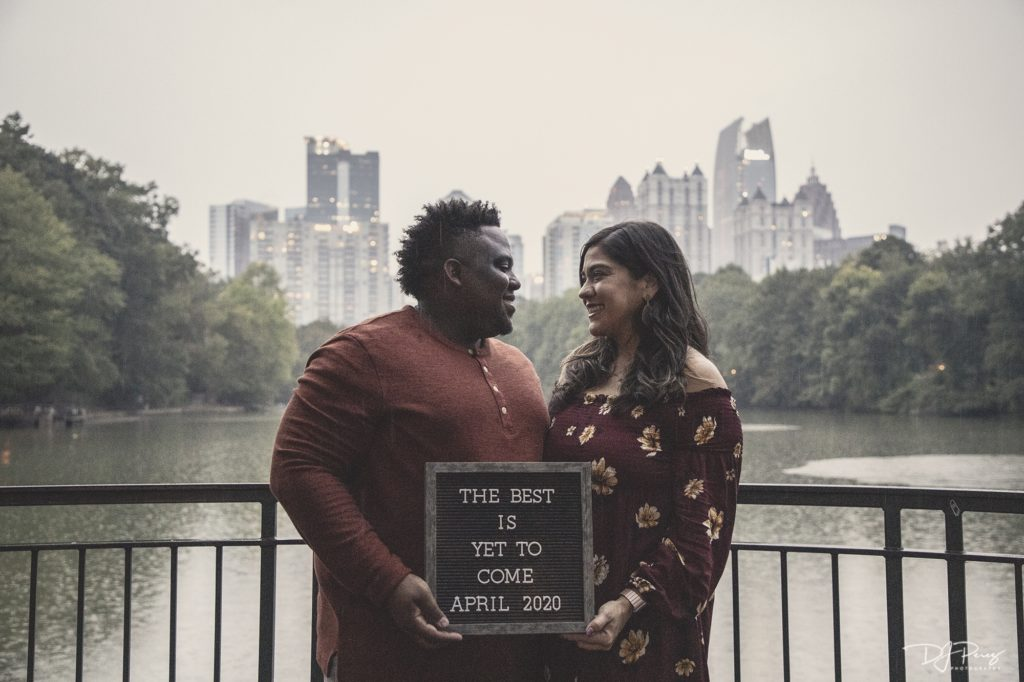 Brooklyn and Jermaine Ramsey Announcement Shoot